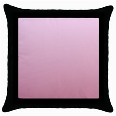 Pink Lace To Puce Gradient Black Throw Pillow Case by BestCustomGiftsForYou