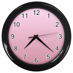 Pink Lace To Puce Gradient Wall Clock (black) by BestCustomGiftsForYou
