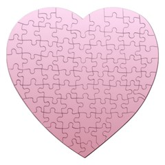 Pink Lace To Puce Gradient Jigsaw Puzzle (heart) by BestCustomGiftsForYou