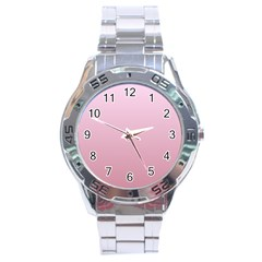 Pink Lace To Puce Gradient Stainless Steel Watch (men s) by BestCustomGiftsForYou
