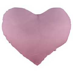 Pink Lace To Puce Gradient 19  Premium Heart Shape Cushion by BestCustomGiftsForYou
