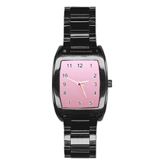 Pink Lace To Puce Gradient Men s Stainless Steel Barrel Analog Watch by BestCustomGiftsForYou