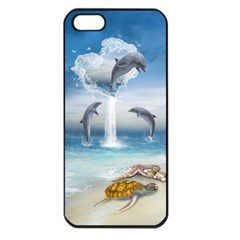 The Heart Of The Dolphins Apple iPhone 5 Seamless Case (Black)
