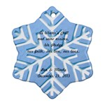 Wedding Favor - Snowflake Ornament (Two Sides)