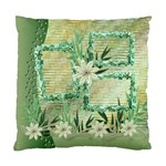 Green Floral Love Cushion Case 1 side - Standard Cushion Case (One Side)