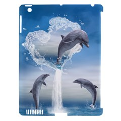 The Heart Of The Dolphins Apple iPad 3/4 Hardshell Case (Compatible with Smart Cover)