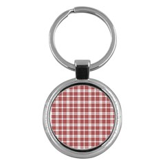 Buchanan Tartan Key Chain (round)