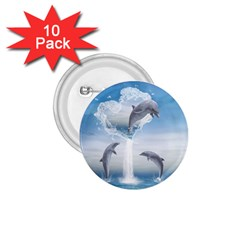 The Heart Of The Dolphins 1 75  Button (10 Pack) by gatterwe