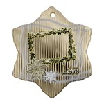 Neutral Love Floral Ornament 1 - Ornament (Snowflake)