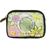 Love You floral digital camera case - Digital Camera Leather Case