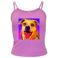 Happy Dog Spaghetti Top (Colored)