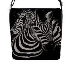 Zebra Flap Closure Messenger Bag (Large) by cutepetshop
