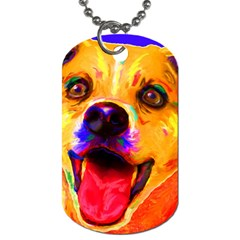 Happy Dog Dog Tag (one Sided) by cutepetshop