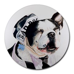 Bad Dog 8  Mouse Pad (Round) by cutepetshop