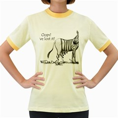 Lost Womens  Ringer T Shirt (colored) by cutepetshop