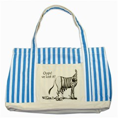 Lost Blue Striped Tote Bag by cutepetshop