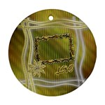 Gold floral round ornament - Ornament (Round)