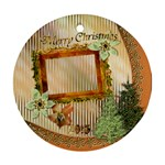 Christmas alternate round ornament - Ornament (Round)
