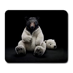Bear in Mask Large Mouse Pad (Rectangle) by cutepetshop