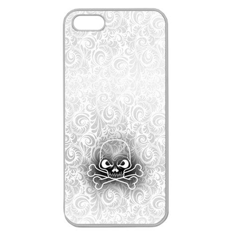 Clear Skull Iphone 5 Hard Case By Thimal Wickremage   Apple Seamless Iphone 5 Case (clear)   N356gr57eorr   Www Artscow Com Front