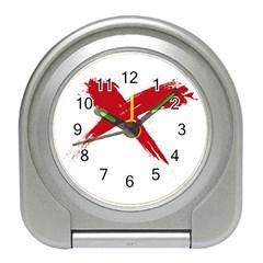 Red X Desk Alarm Clock by magann