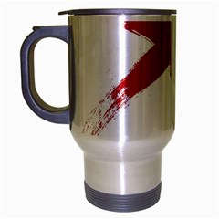 Red X Travel Mug (silver Gray) by magann