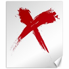 Red X Canvas 20  X 24  (unframed)