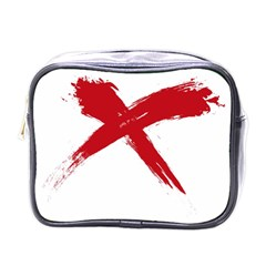 Red X Mini Travel Toiletry Bag (one Side) by magann