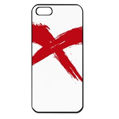 Red X Apple Iphone 5 Seamless Case (black) by magann