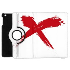 Red X Apple Ipad Mini Flip 360 Case by magann