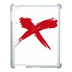 Red X Apple Ipad 3/4 Case (white) by magann