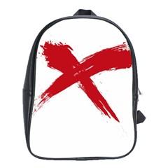 Red X School Bag (xl) by magann