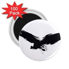 Grunge Bird 2 25  Button Magnet (100 Pack)