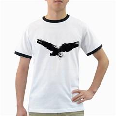 Grunge Bird Mens' Ringer T Shirt