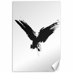 Grunge Bird Canvas 12  X 18  (unframed) by magann