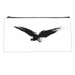 Grunge Bird Pencil Case by magann