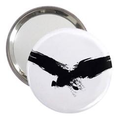 Grunge Bird 3  Handbag Mirror