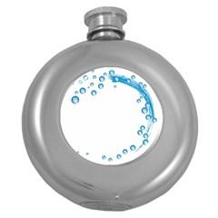 Water Swirl Hip Flask (round) by magann