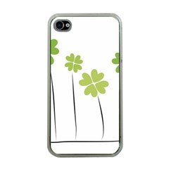 Clover Apple Iphone 4 Case (clear) by magann