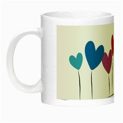 Heart Flowers Glow In The Dark Mug by magann