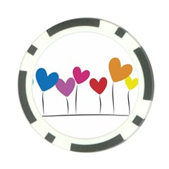 Heart Flowers Poker Chip by magann