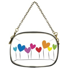 Heart Flowers Chain Purse (two Side) by magann