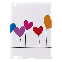 Heart Flowers Apple Ipad 3/4 Hardshell Case (compatible With Smart Cover) by magann