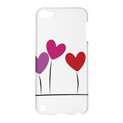 Heart Flowers Apple Ipod Touch 5 Hardshell Case by magann