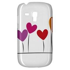 Heart Flowers Samsung Galaxy S3 Mini I8190 Hardshell Case by magann