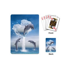 The Heart Of The Dolphins Playing Cards (mini) by gatterwe