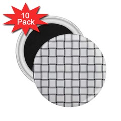 White Weave 2 25  Button Magnet (10 Pack)