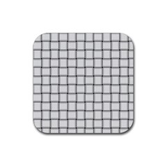 White Weave Drink Coaster (square) by BestCustomGiftsForYou