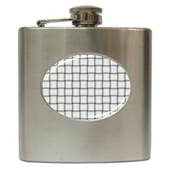 White Weave Hip Flask by BestCustomGiftsForYou