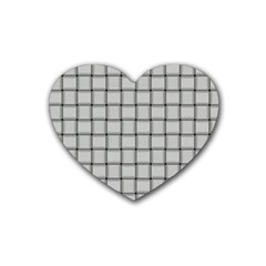 Gray Weave Drink Coasters (heart) by BestCustomGiftsForYou
